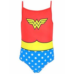 Wonder Woman Dc Comics - Traje De Baño Para Niña