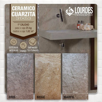 Cerámica Revestimiento Pared Lourdes Cuarzita 31x53 La Plata