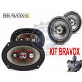 Kit Bravox 2 Falantes Bravox 6x9 + 2 Tr6u 6 Pol - Promoção!