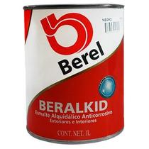 Pintura Esmalte Beralkid 424-4 Negro (1litro) Berel.