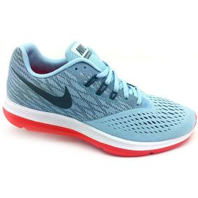 Tenis Nike Air Zoom Winflo 4 Celeste Correr Running