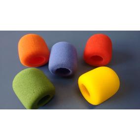 Espuma Colorida P/ Microfone Kit Com 5 Unidades