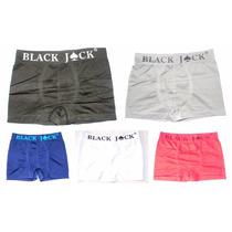 Kit Com 12 Cuecas Boxer Black Jack Atacado