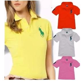Camisa Camiseta Gola Polo Feminina Grife Envio Imediato