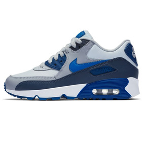 Zapatillas Nike Air Max 90 Leather Azul Niño