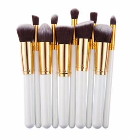 10 Peças Pincel Kit Kabuki Pinceis Maquiagem Brush Sombras