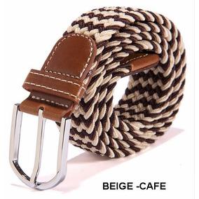 Cinturon Cafe Elastico Hombre Correa Trenzada Expandible ·   49.900 07fcc4c415f4