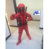 Talla 4 Disfraz Deadpool Musculo Con Accesorios( Hstyle)