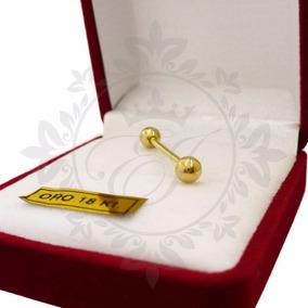 Piercing Oro Lengua Oro 18 K Bolita 1.5 Grs Hombre Y Mujer