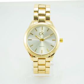 Relógio Feminino Ck Luxo Strass Exclusivo + Caixa