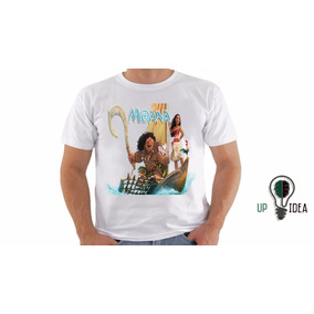Camiseta Moana Desenho Animado Personalizado Cod 549