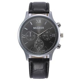 Promoção De Relógio Masculino Pulseira De Couro Migeer Barat