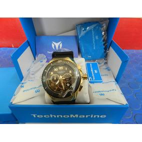 Technomarine Ocean Manta Cronograph Black & Gold 660ft