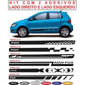 Acessorios Adesivos Lateral Vw Fox Raposa Spacefox Crossfox
