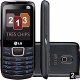 Celular Lg A290 Tri Chip Desbloqueado - Preto Novo Nacional
