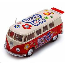 1962 Volkswagen Autobús Clásico, Rojo - Kinsmart 5377df - 1