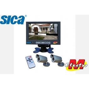 Kit Cctv Monitor 7 Lcd + 2 Camaras Color Sica Electro Medina