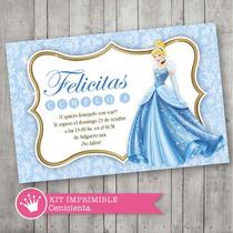 Kit Imprimible Cenicienta Decoración Invitación Cumpleaños