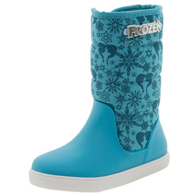 Bota Infantil Feminina Frozen Snow Azul Grendene Kids - 2144