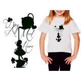 Camiseta T-shirt Mãe Filha Alice No Pais Das Maravilhas Top