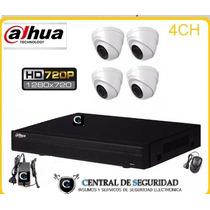 Kit Cctv Dahua 1 Dvr Dahua + 4 Camaras1200tvl + Cable Oferta