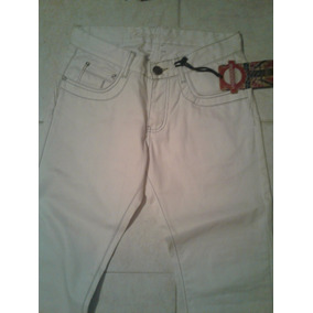 Pantalon Underground Semi Cuero Blanco