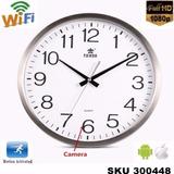 Camara Espia Oculta Reloj Pared Wifi Hd +audio, Cargador W01