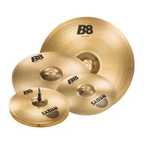Kit Set De Pratos Sabian Zzp5set Com 8 14 16 E 20 Liga B8