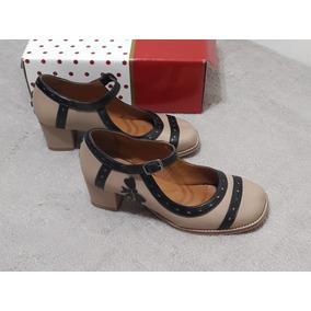 Sapato Boneca Retro Laço E Corações - Tam. 36