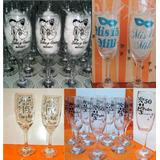 Copas Champagne Personalizadas Colores Regalo / Souvenir