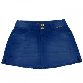Saia Jeans Ana Hickmann Mini Low Sarja Ah101