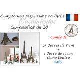 Fiesta Tematica De Paris Francia Torres Eiffel De 8 Cm