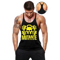 Camiseta Regata Animal Academia Musculação Super Cavada