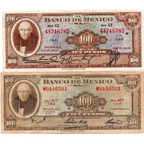 2.- Antiguos Billetes $ 100 1950 Y 1961