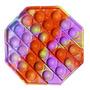 Purple orange polygon