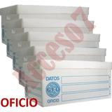 5 Cajas Archivo Muerto Plastico Geo Tamaño Oficio 50x35x25cm