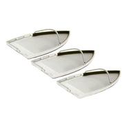 Kit Com 3 Sapata Alumínio Anti Brilho Teflon P/ Ferro Jolly