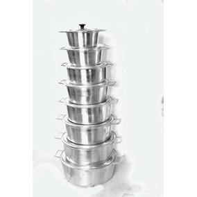 Jogo De Panelas Em Aluminio Fundido Super Polido 8 Peças