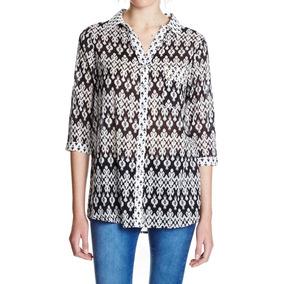 Camisa Con Estampas Combinadas Y Bolsillo Con Tachas Yagmour