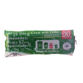 Sacos Para Lixo Dia Rolo Econômico Capacidade 6kg 30l 30un