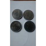 Moneda 1 Peso Morelos Acero Años 1985 1986