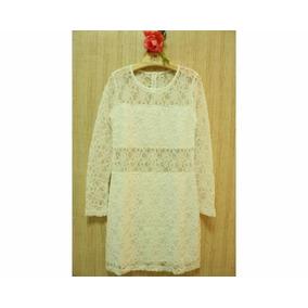 Vestido Renda Colonial Off White Promoção Charmosa Divina