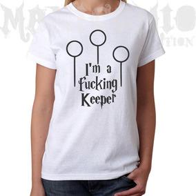 Camiseta Baby Look Harry Potter Keeper Quadribol - Mod 2013