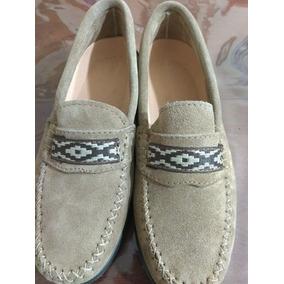 Zapato Náutico De Hombre , Gamuza