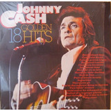 Johnny Cash 18 Golden Hits Vinilo Lp Importado Masters