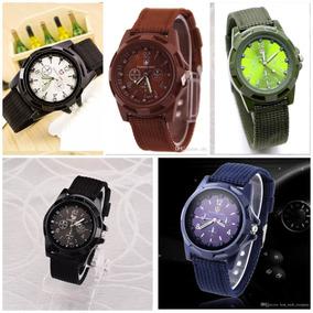 Lote De 5 Relojes Gemius Army Estilo Militar Moda 5 Colores.