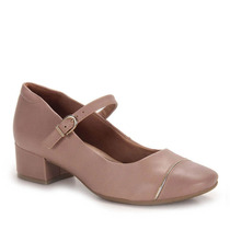 Sapato Boneca Salto Conforto Feminino Comfortflex - Bege