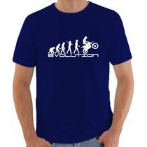 Camiseta Evolution Motocross Engraçada Personalizada Algodão