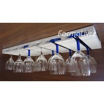 Porta Taças Suporte Decorativo P/ Adega Bares Vinhos Branco