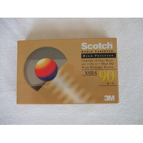 Audio Cassette Scotch Xsii-s 90 Minutos High Bias Cro2